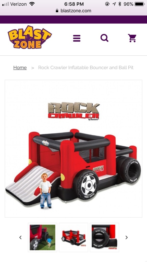Photo Rock crawler bounce house with slide, ball pit and balls!!