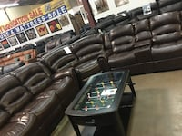 Bonded leather Reclining sectional. Brand new.  McKinney
