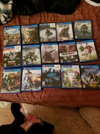 assorted-title Sony PS4 game case lot 41 km