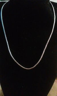 "Gorgeous Sterling Omega Necklace 16"" x 1/8""  Smithville, 38870"