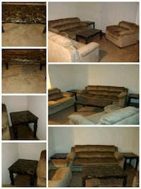 Sofa, Love Seat, Marble Top Coffee & End Tables 241 mi
