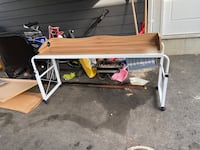 Long over bed table