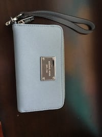 blue leather Michael Kors wristlet