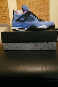 unpaired blue and white Air Jordan 4 shoe Ashburn, 20147