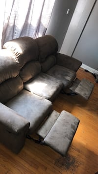black and gray fabric recliner sofa Toronto, M6A 2T2