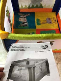 Children play pen play yard Delta. Almost new. Very clean. Non smoking home. Used as extra one so like new. Original box and also cover included Woodbury, 10930