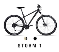 black and red hardtail mountain bike Calgary, T2J 0Y8