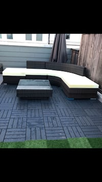 Patio sectional and coffee table