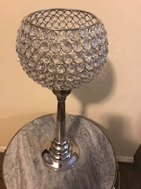 "17"" tall crystal candle holder new check out my other listings on this page message me if you interested pick up in Gaithersburg md 20877 Gaithersburg, 20877"