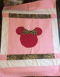 pink and white Minnie Mouse print textile Kansas City, 66112