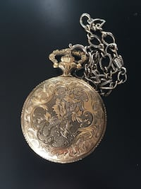 Gold plated pocket watch London, N6A