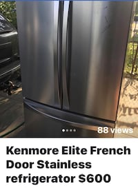 Stainless steel French door refrigerator $600 Dearborn Heights, 48127