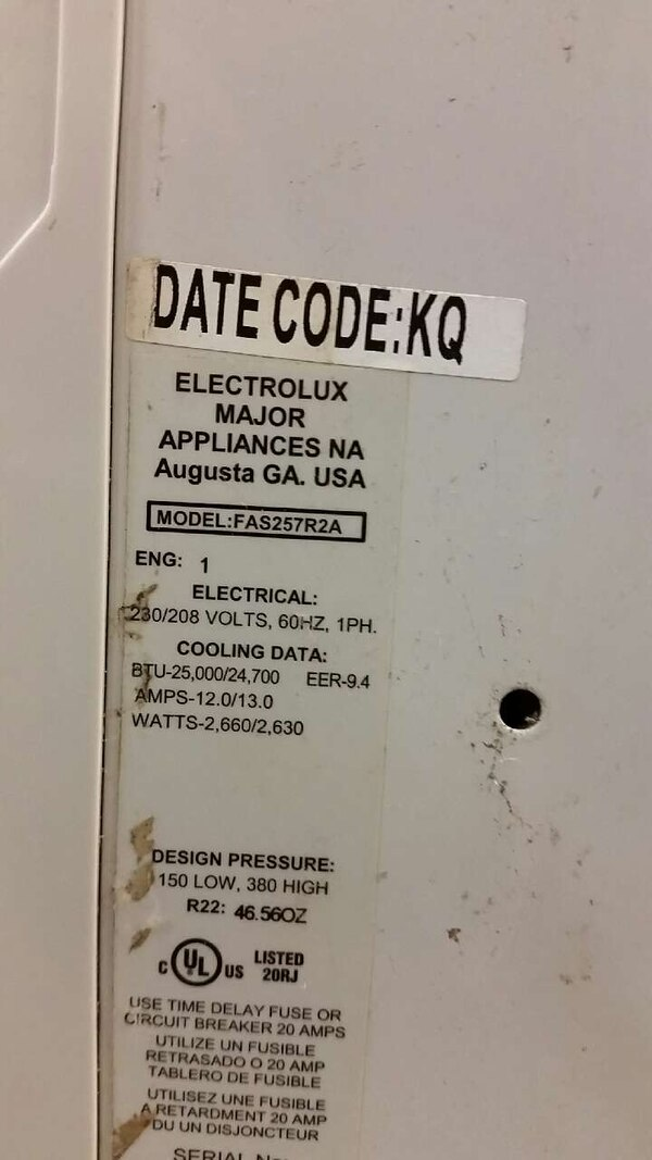 Used date code: kq electrolux major appliances for sale in Lexington ...