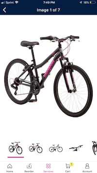 black and red hardtail bike Downey, 90240