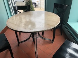 Marble restaurant tables (11 tables )