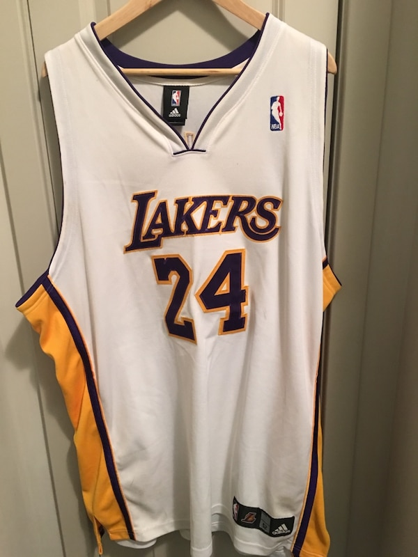 6c3b19728 Used 100% Authentic Adidas Kobe Bryant Laker NBA  24 Home Jersey Size 52  for sale in Stratford - letgo