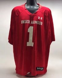 Last Minute SUPER BOWL JERSEY? NWT UA Mens Under Armour Red Undeniable #1 Football Jersey Men's Size XL