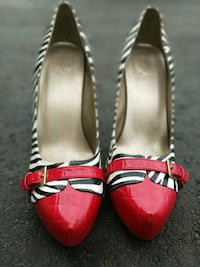 Size 11 Worn Once Pair of Zebra Print Heels Oakville, L6H