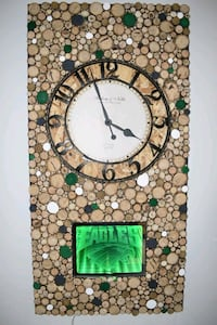 Philadelphia Eagles Infinity Mirror LED Wall Clock Modern Abstract Art