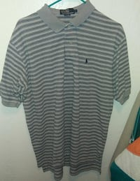 white and black Polo by Ralph Lauren striped polo