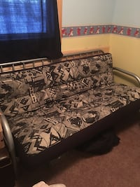 black and white floral fabric sofa Willowbrook, S0A