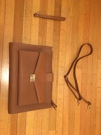 Brown synthetic leather 2-way bag Vancouver, V6E 1R5