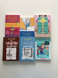 Pre Teen Children's Books (Diary of a Wimpy Kid, Matilda, Alice in Wonderland, Dear Dumb Diary, The Last Present) Burnaby, V5A 4X7