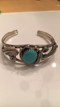 silver and teal gemstone ring Fairfax, 22033