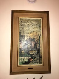 brown wooden framed painting of Eiffel tower Manalapan, 07726