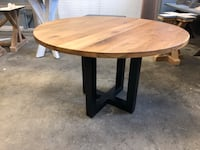 New Round Black Walnut Wood Top Table Providence, 02909