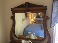 Antique Oak Dresser with Ornate Mirror Silver Spring