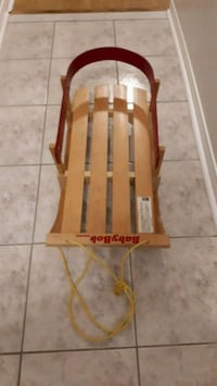 Wooden pull sled