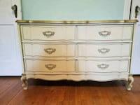 Cream princess dresser with gold Arlington, 22205