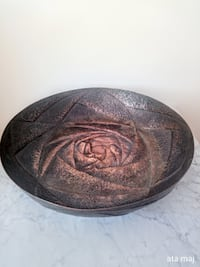 Handcrafted 20-Inch Hammered Copper Bowl Surrey