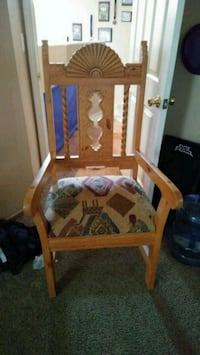 Aztec style sturdy wooden chair North Las Vegas, 89031
