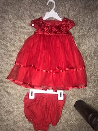 Red 12 months girl dress Calgary, T3E 6L9