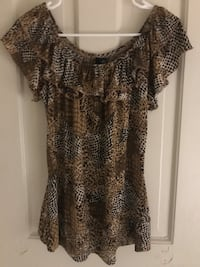 L women's animal print silk shirt Arlington, 22203