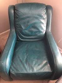 Teal leather chair Lubbock, 79424