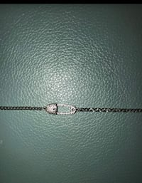 Real sterling.  Silver and cubic zicornia necklace