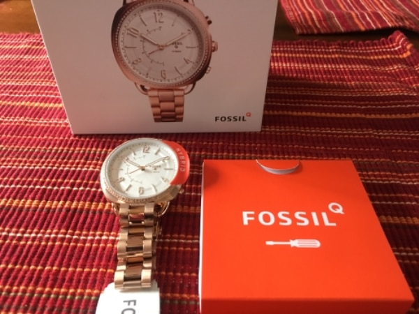 1d589bf3180b Used NEW... Fossil hybrid smartwatch - q accomplice rose gold-tone  stainless steel NEW in box. for sale in McHenry - letgo