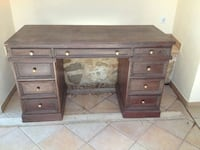 Wooden desk real wood is old  Benissa, 03720