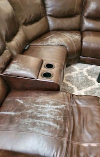 Sectional couch reclining