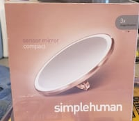 """Simplehuman Sensor Mirror Compact 3x Brushed Stainless Steel 4"""" Brand New Coquitlam"""
