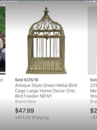 Country Style Ornate Birdcage Houston, 77055