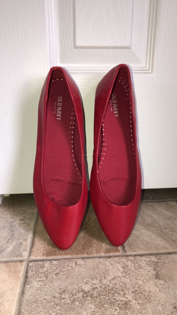 Pair of red flats