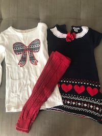 Toddler girl dresses with red stockings 24 m/2T Columbia, 21044