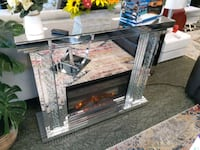 glam mirrored electric fireplace  Fort Myers, 33901