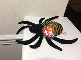 """""""Spinner"""" the spider- Ty beanie baby"""