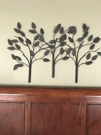 Wall art ~ 3 Dimensional metal trees Purcellville, 20132