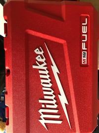 red and white Milwaukee tool box Surrey, V4N 6A7